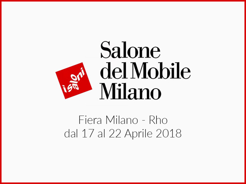 Salone del mobile milano 2018 pavillon 6 stand f70 for Rho fiera salone del mobile